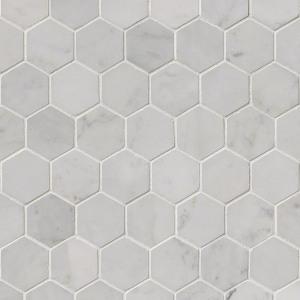 carrara-white-2-inch-hexagon-polished